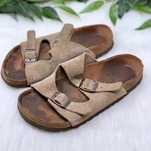 Birkenstock Arizona Tan Double Strap Sandal 36
